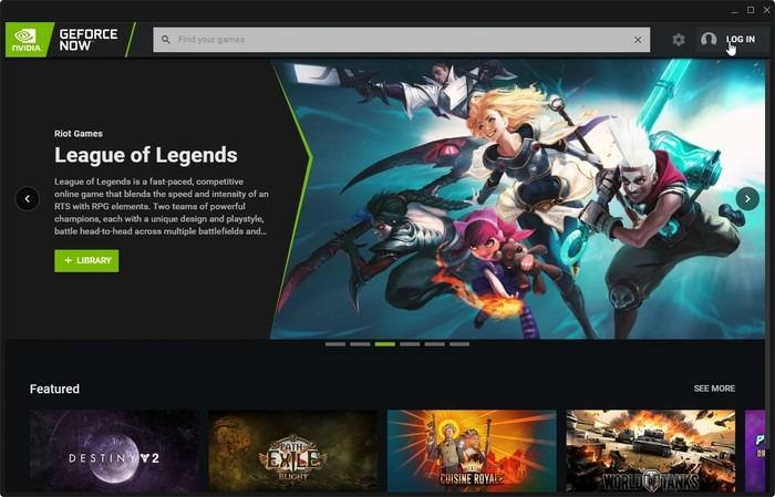 Enlace de inicio de sesión de Geforce Now Game Streaming