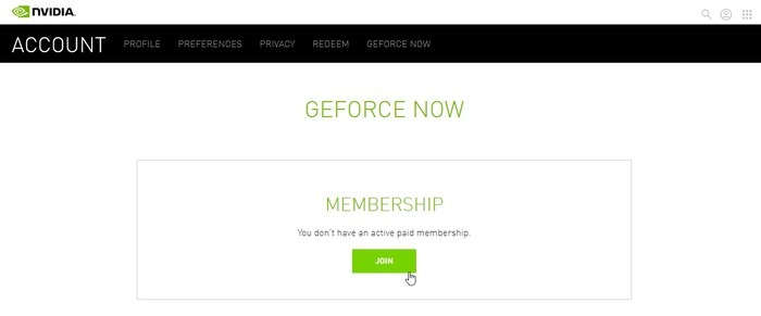 Geforce Now Game Streaming Cuenta de Nvidia