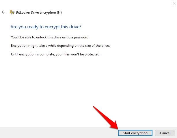 Cifrar unidad USB Windows Cifrado de arranque de 10 unidades Bitlocker