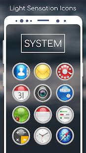 Captura de pantalla para Light Sensation Icon Pack