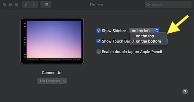 Mostrar: ocultar barra táctil en Mac