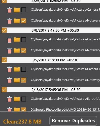 Eliminar archivos duplicados Windows Eliminador de archivos duplicados eliminado