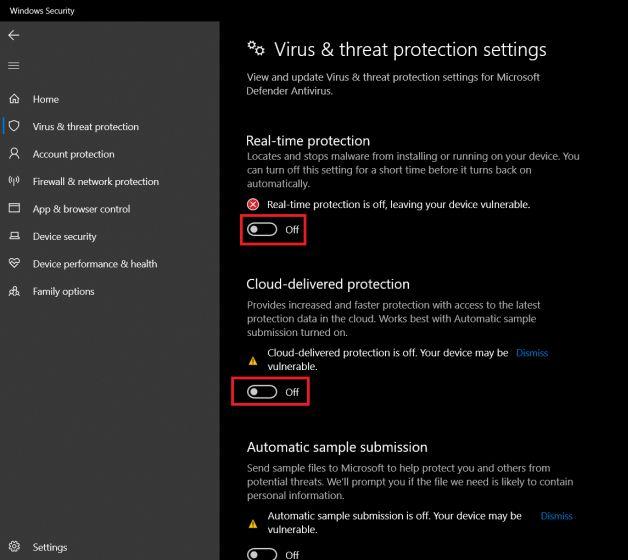 Inhabilitar Windows Defender Antivirus en Windows 10 Uso del registro