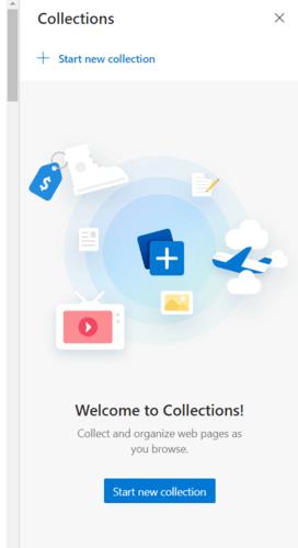 Borde contra Chrome Iniciar colección