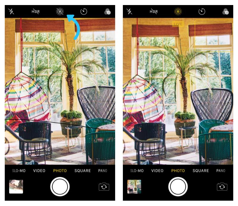 Instagram    Fotos: configuración de iPhone Live Photo