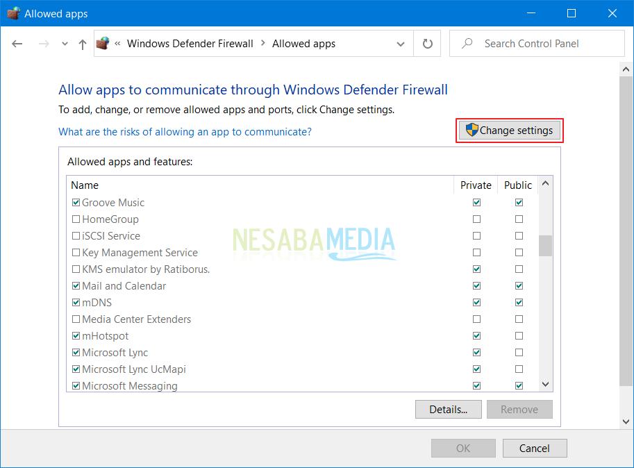 como vencer Windows Firewall ha bloqueado algunas funciones de este programa. windows 10