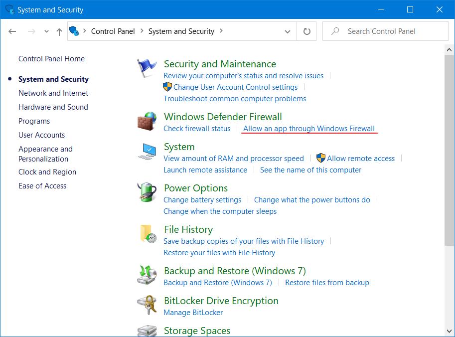 Windows    Firewall ha bloqueado algunas funciones de este programa - Permitir 2