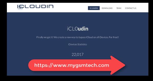 Herramienta de desbloqueo de iCloudin iCloud