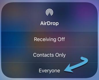 Solucione los problemas de Airdrop que obtiene todos Ios