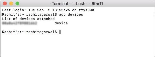 Terminal - Dispositivos ADB