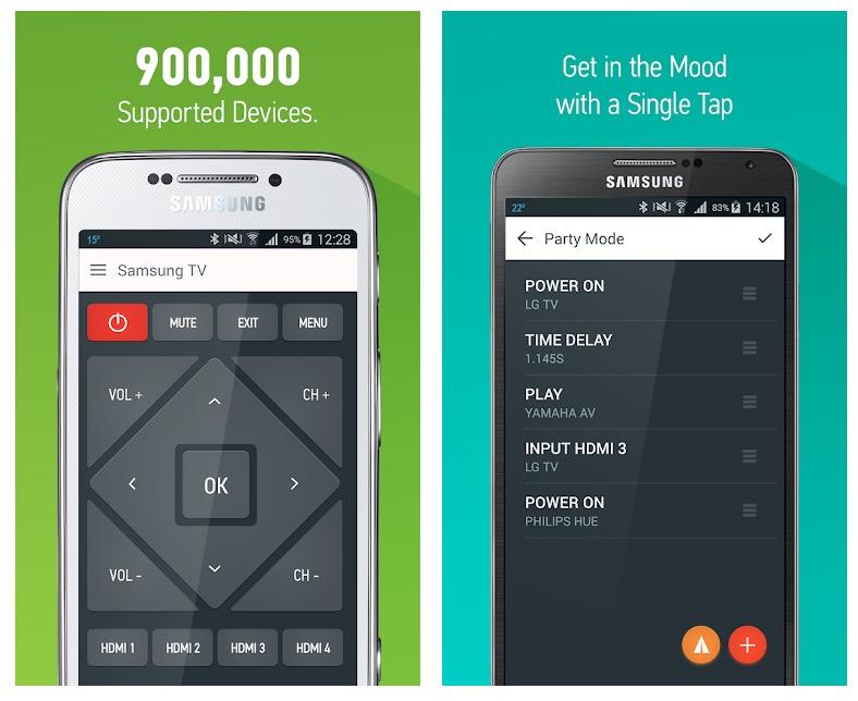 Aplicación AnyMote Universal Remote + WiFi Smart Home Control