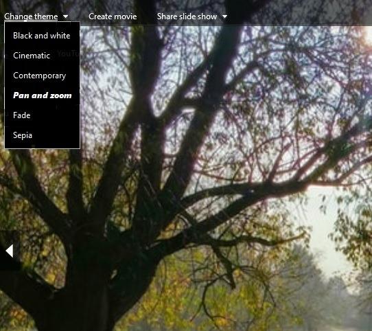 Ver presentaciones de diapositivas Windows 10 Galería de fotos