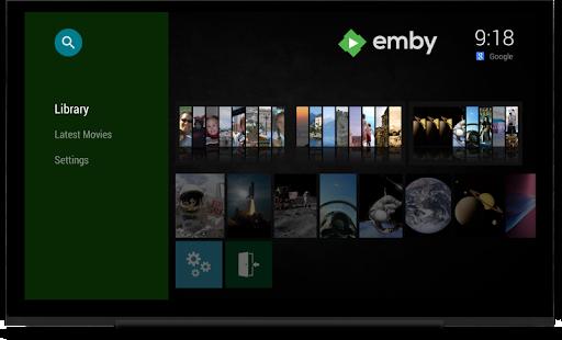 Emby para la pantalla de Android TV