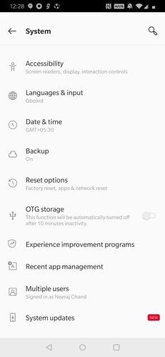 lado del sistema Android