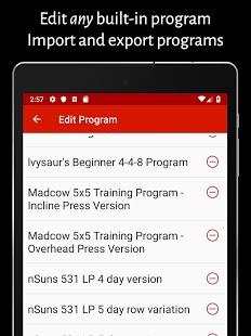 Captura de pantalla para entrenador personal