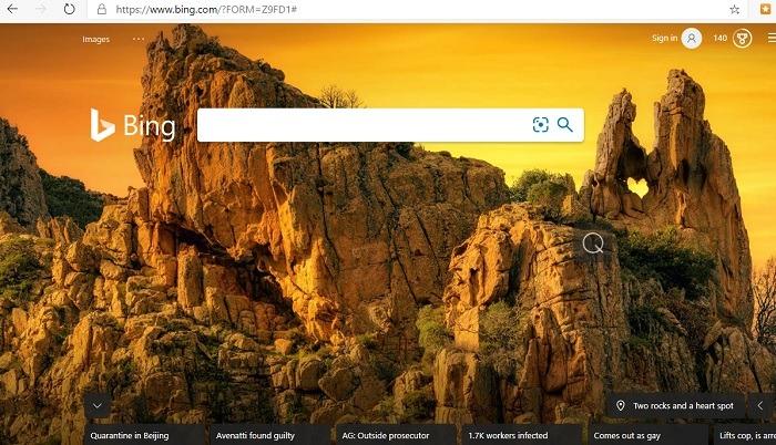 Bing es mejor que Google Wallpapers