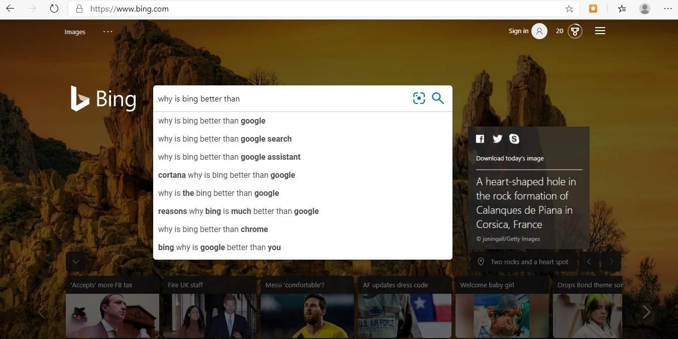 8 Cosas como Bing funcionan mejor que Google