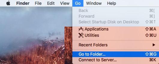 Ir a las opciones de carpeta en Mac