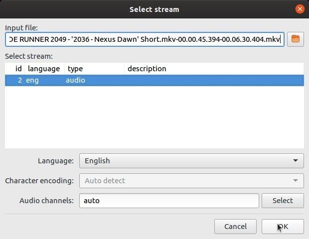 Subtítulos de autofix con lenguaje de referencia Subsync