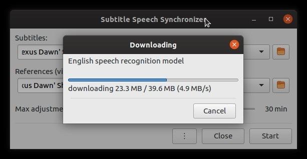 Subtítulos para autofix con archivo de voz Subsync
