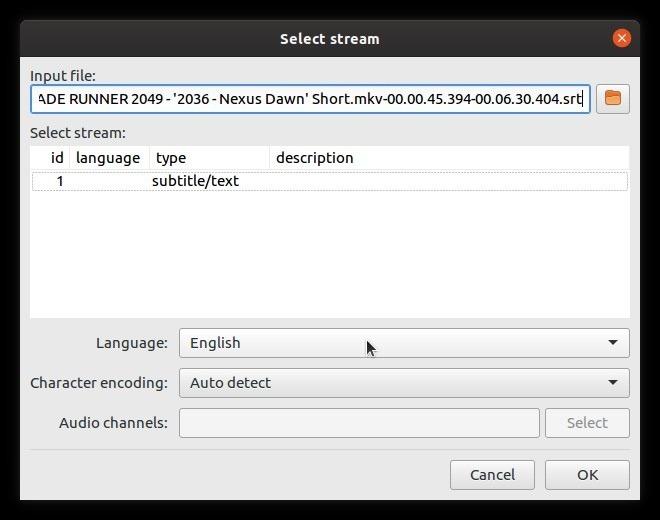 Subtítulos para autofix con secuencias Subsync