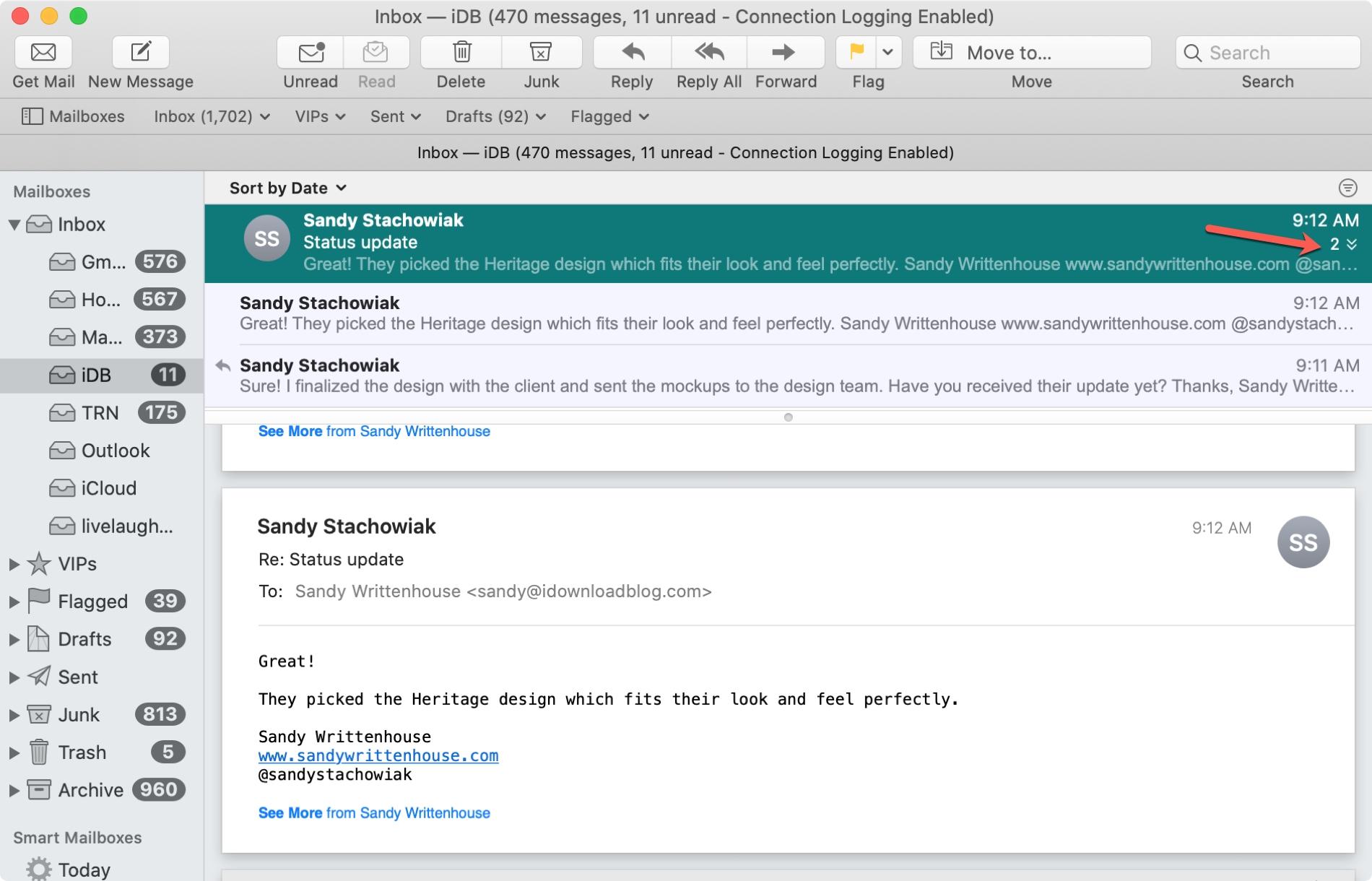 Conversaciones por correo electrónico