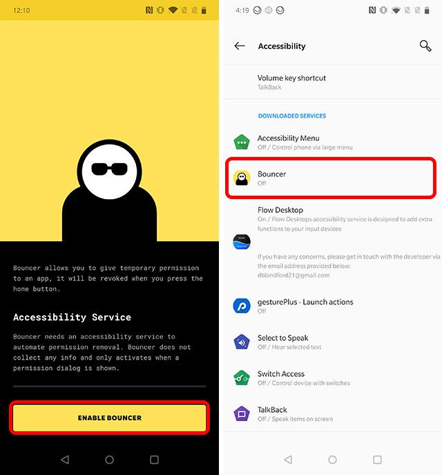 habilitar el gorila para obtener Android 11 función de permisos únicos