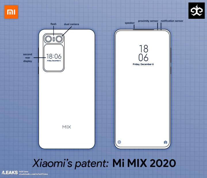 Patente xiaomi mi mix 2020