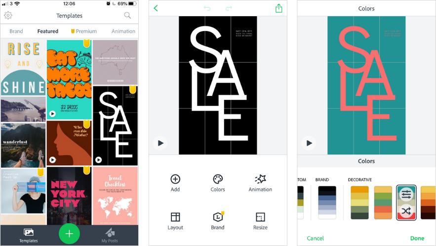 Apps para Instagram Historias: Adobe Spark Post