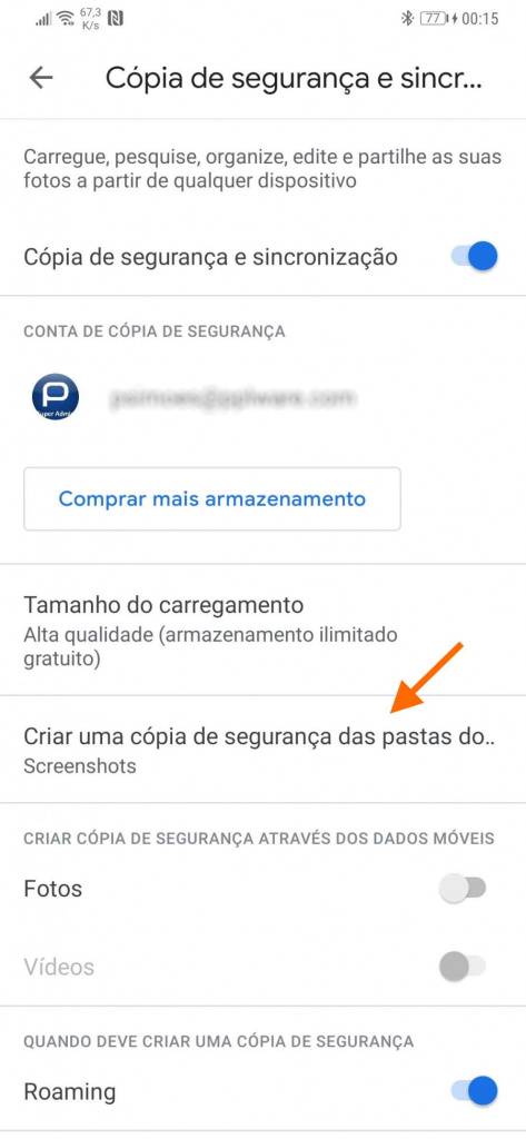 Copia de seguridad de fotos de Google Photos