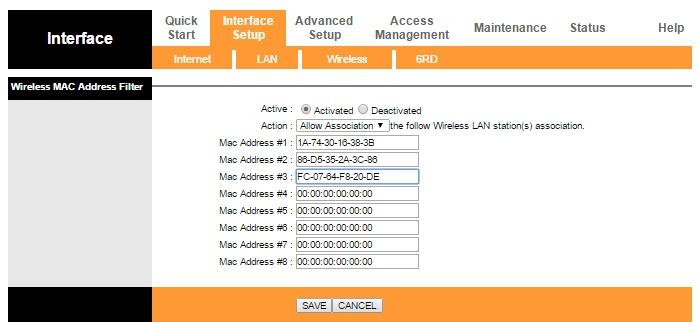 Filtrado de direcciones de Mac en el router TP Llink