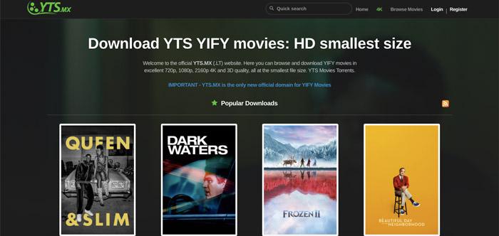 YTS.MX YifyTorrents