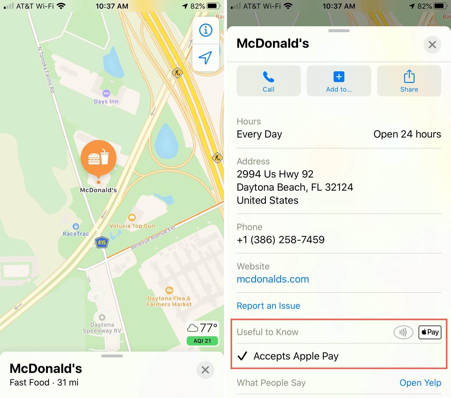 Mapas aceptan Apple Pay iPhone