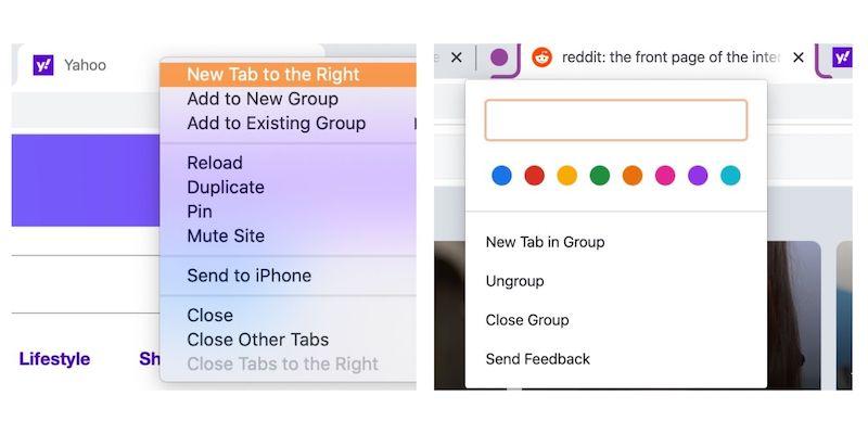 Uso de grupos de pestañas Google Chrome Nuevo grupo