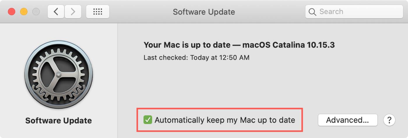 Actualización de software Mantenga su Mac actualizada
