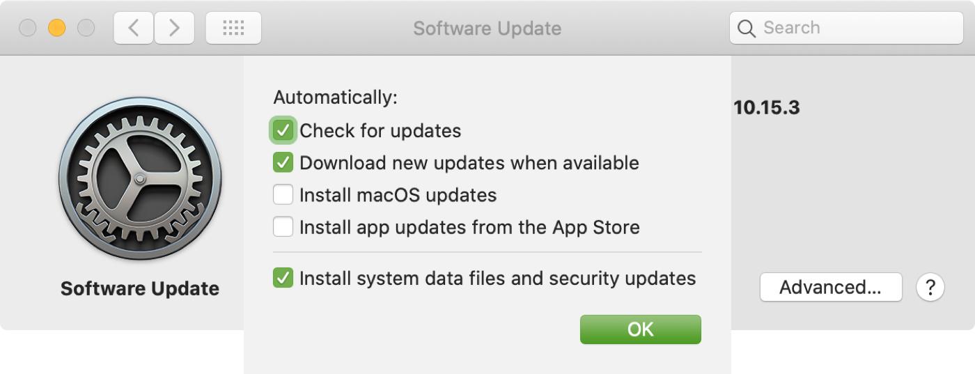 Actualización de software Instalar actualizaciones de archivos del sistema Mac