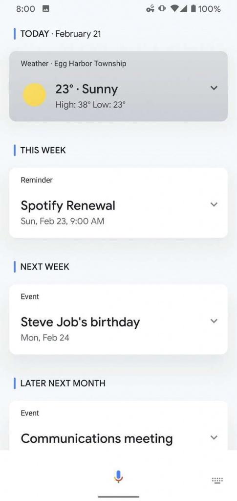 Google Assistant  información imagen noticias