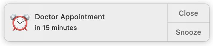 Notificación de eventos de calendario en Mac