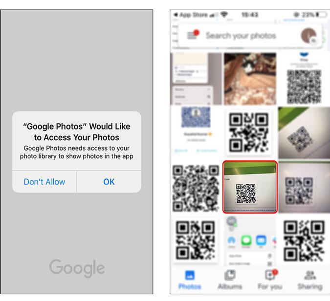 abrir una imagen en la aplicación Google Photos