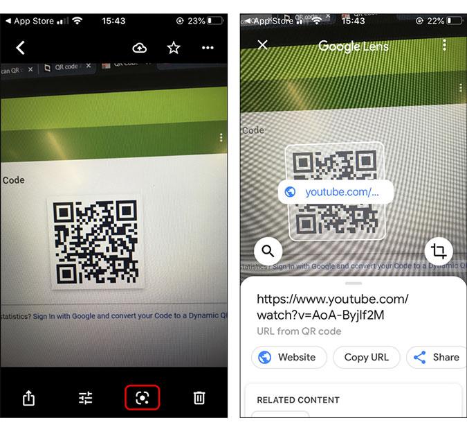 lentes de google que distribuyen el código QR de la imagen