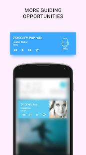 Radio en línea - Zaycev.fm. Escucha la pantalla sin conexión