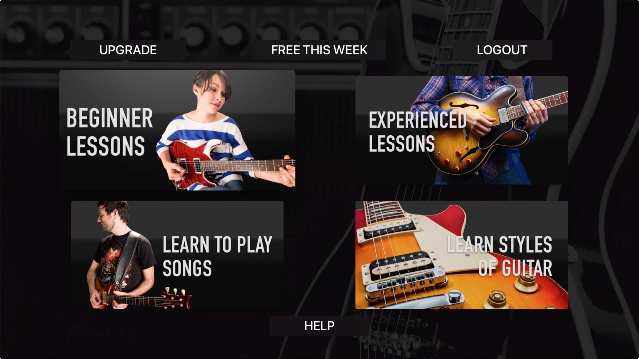 Lecciones de guitarra - truco de guitarra Apple TV