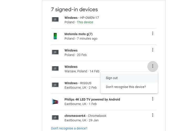Salga de su cuenta Google Android de forma remota 2