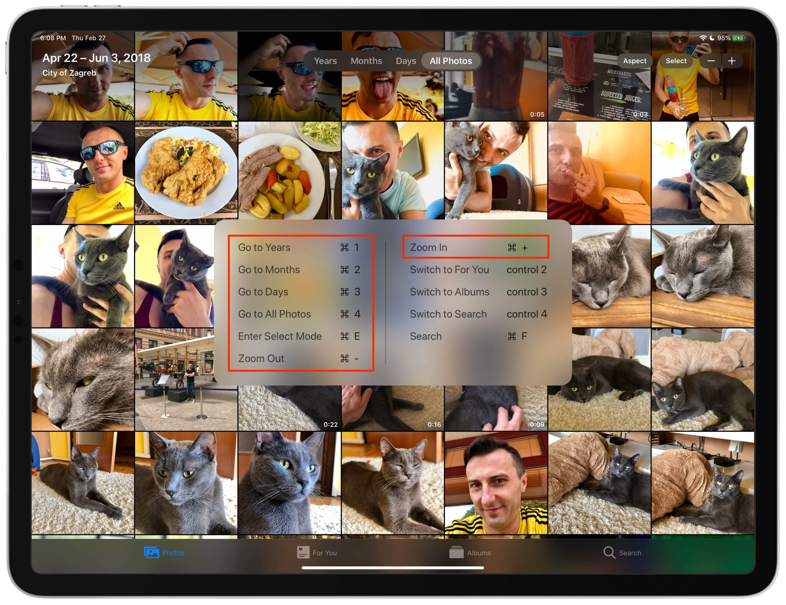 Accesos directos Fotos iOS iPhone iPad