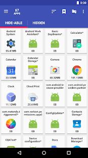 AppMgr Pro III (aplicación 2 SD, Ocultar y congelar aplicaciones) Captura de pantalla