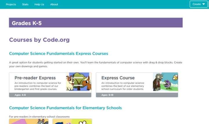 Enseñanza para los niños Code Code.org