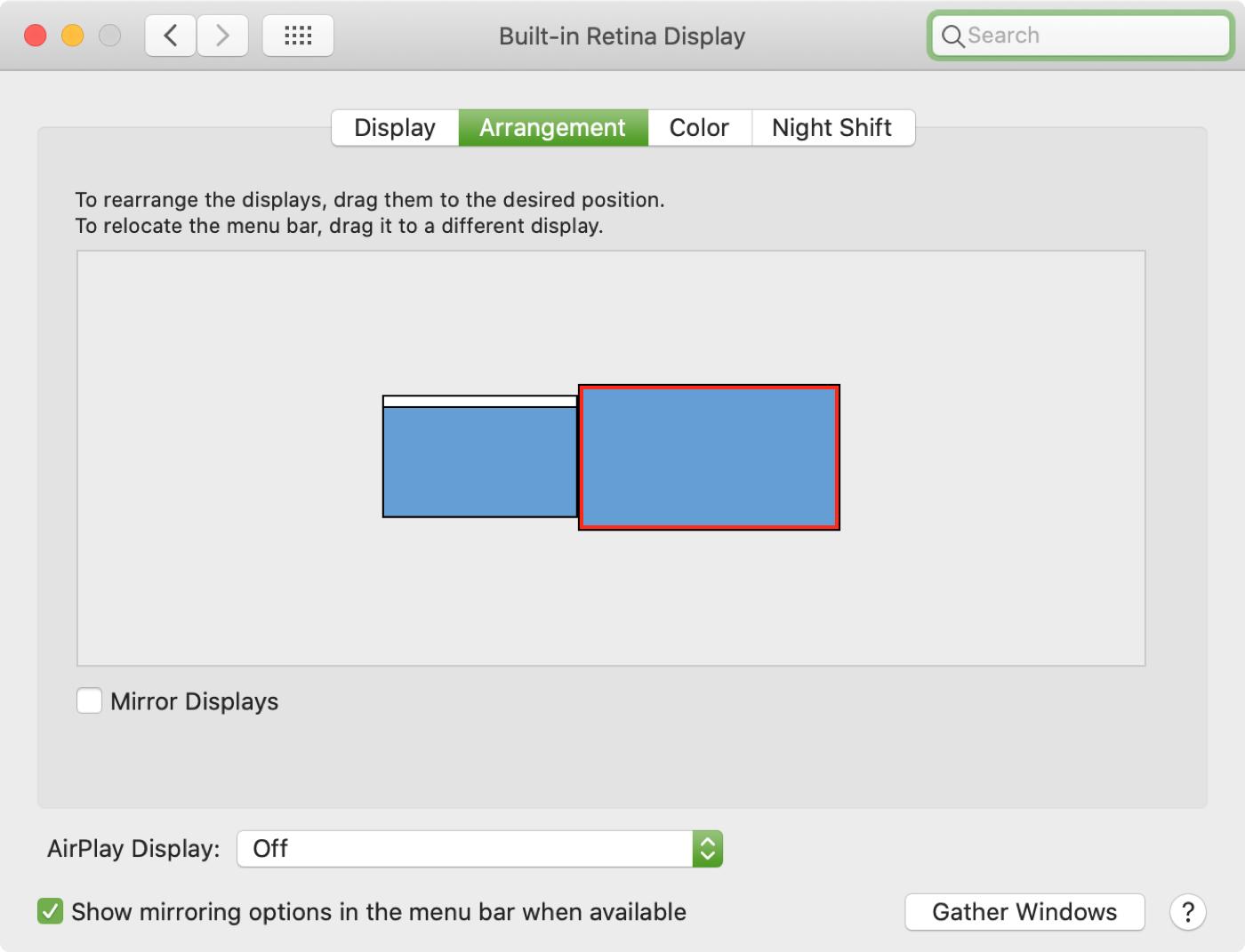 Arreglos de pantalla externa de Mac