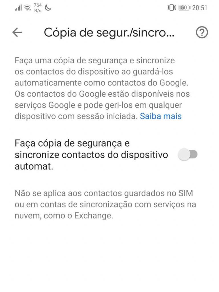 Los contactos de Android sincronizan a los usuarios de Google