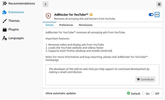 Firefox Better Youtube Adblocker para Youtube