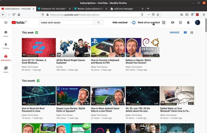 Firefox Mejor marca de Youtube que se veía